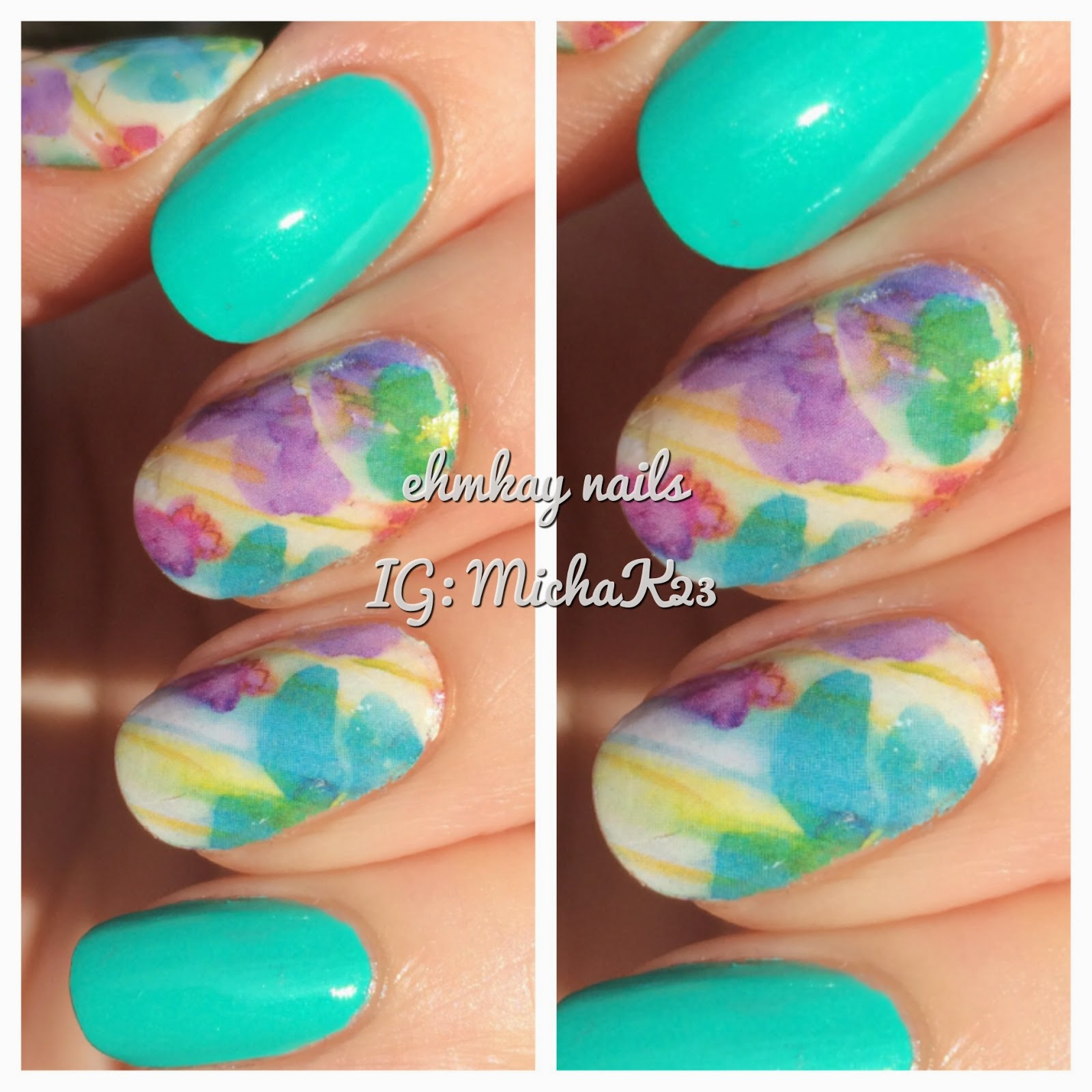 Ehmkay nails born pretty full nail water decals instant nail art prinsesfo Gallery