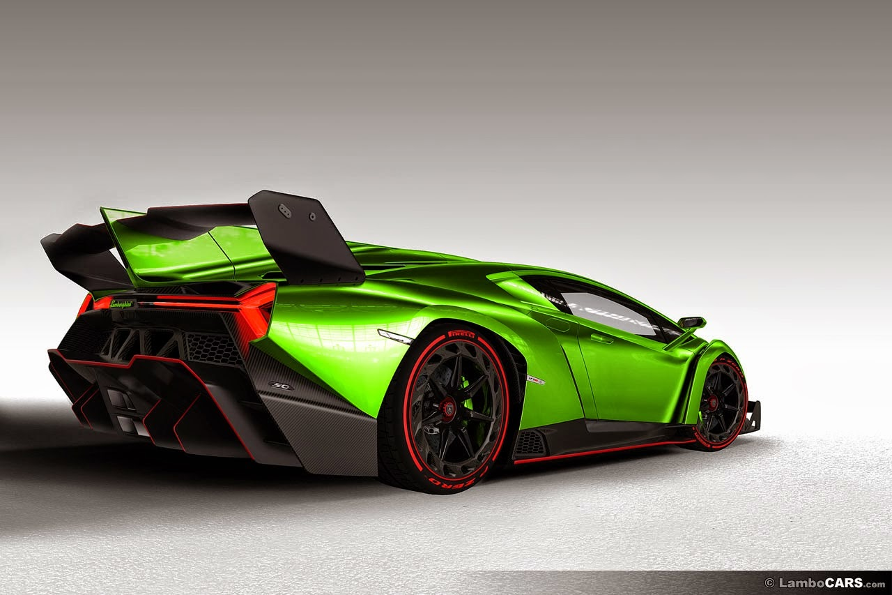 Green Lamborghini Veneno HD Wallpapers