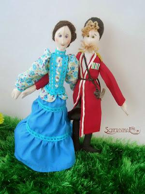 текстильные куклы Казак с Казачкой