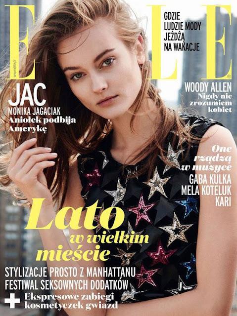 Model @ Monika Jac Jagaciak - Elle Poland, August 2015