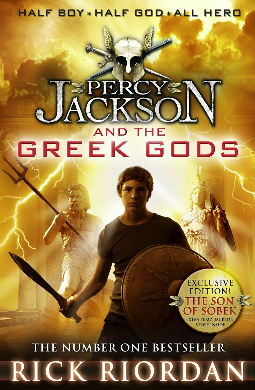 Portada británica de Percy Jackson and the Greek Gods