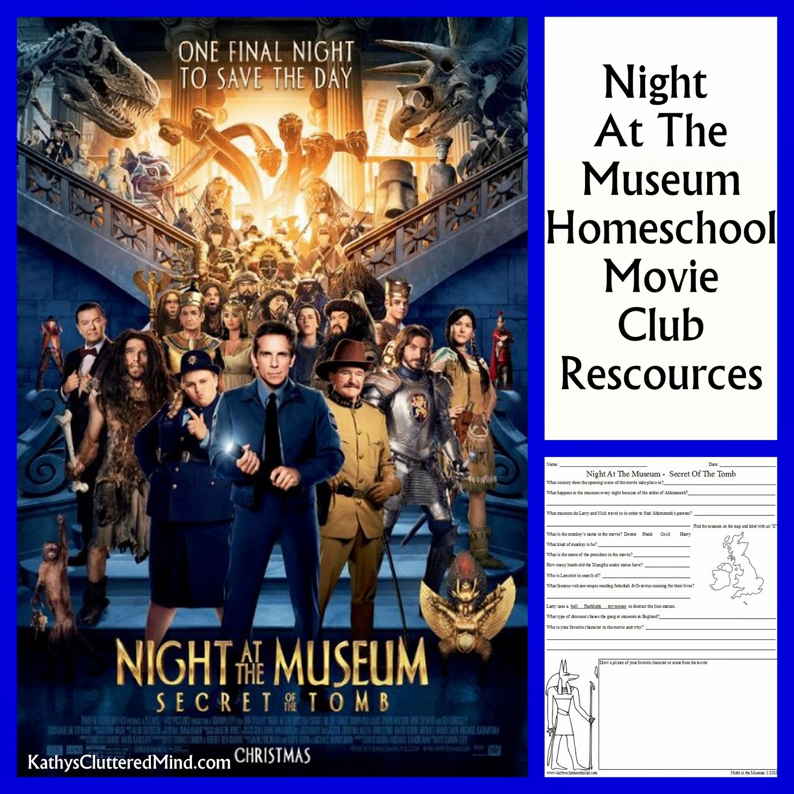 worksheet Night At The Museum Worksheets kathys cluttered mind night at the museum secret of tomb about a week ago we saw with our homeschool movie club yes i totally created homeschool