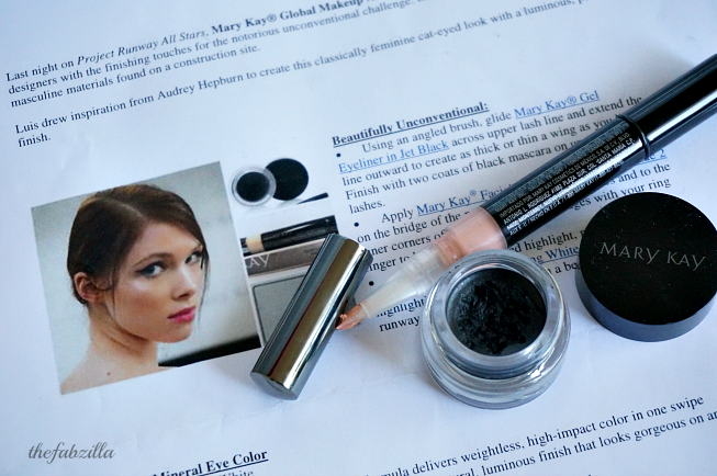 Face of the Day,  Beautifully Unconventiona, Mary Kay Highlighting Pen, Mary Kay Gel Eye Liner, Project Runway All Stars