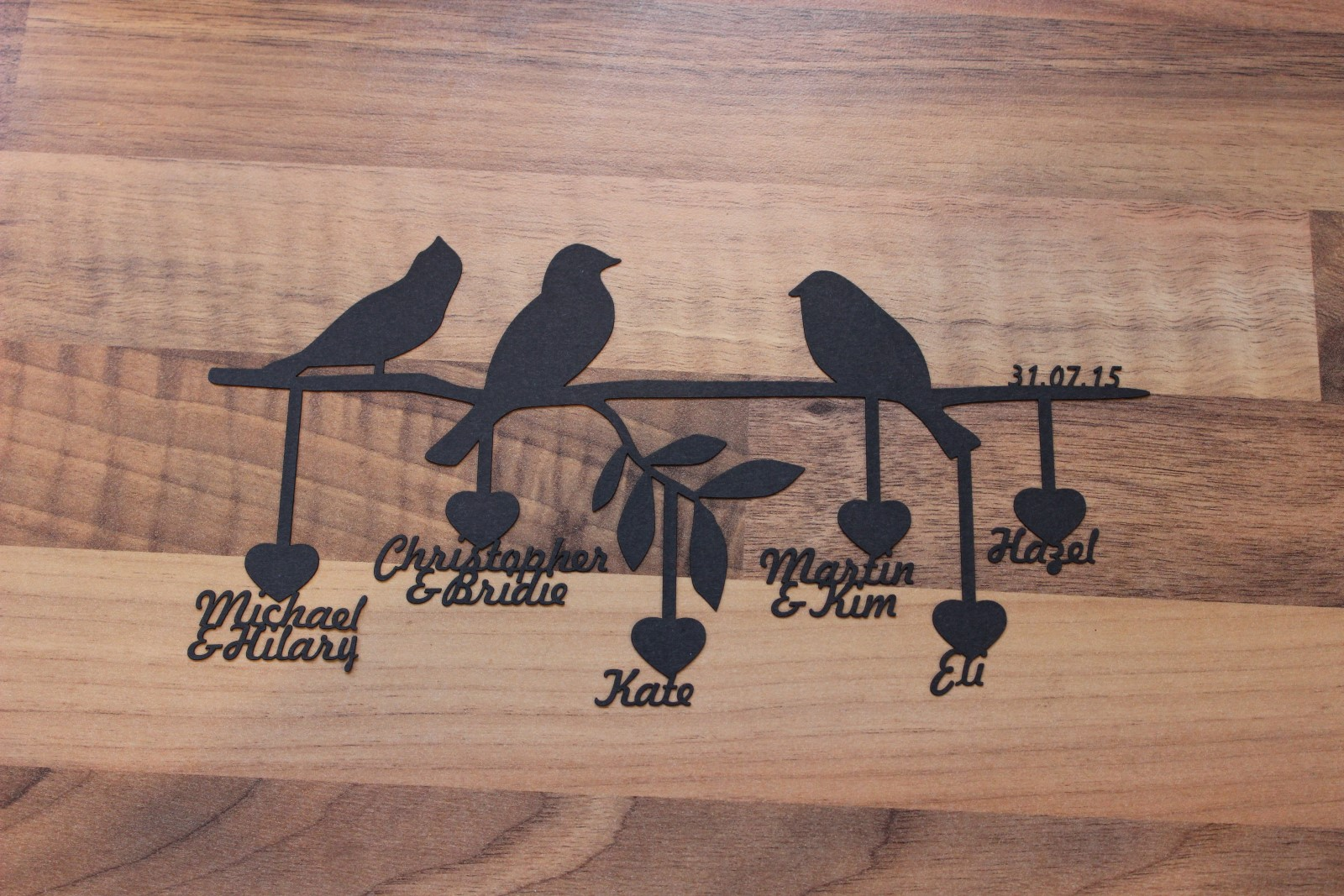 Family Tree Paper Cutout