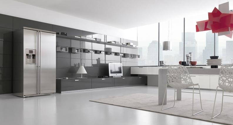 El dise o urbano en viviendas de un solo ambiente - Televisores para cocina ...