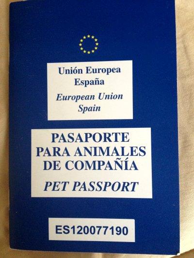 Pasaporte para animales de compañía