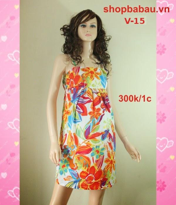 Váy bầu hai dây V-15