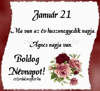 Január 21, Ágnes névnap