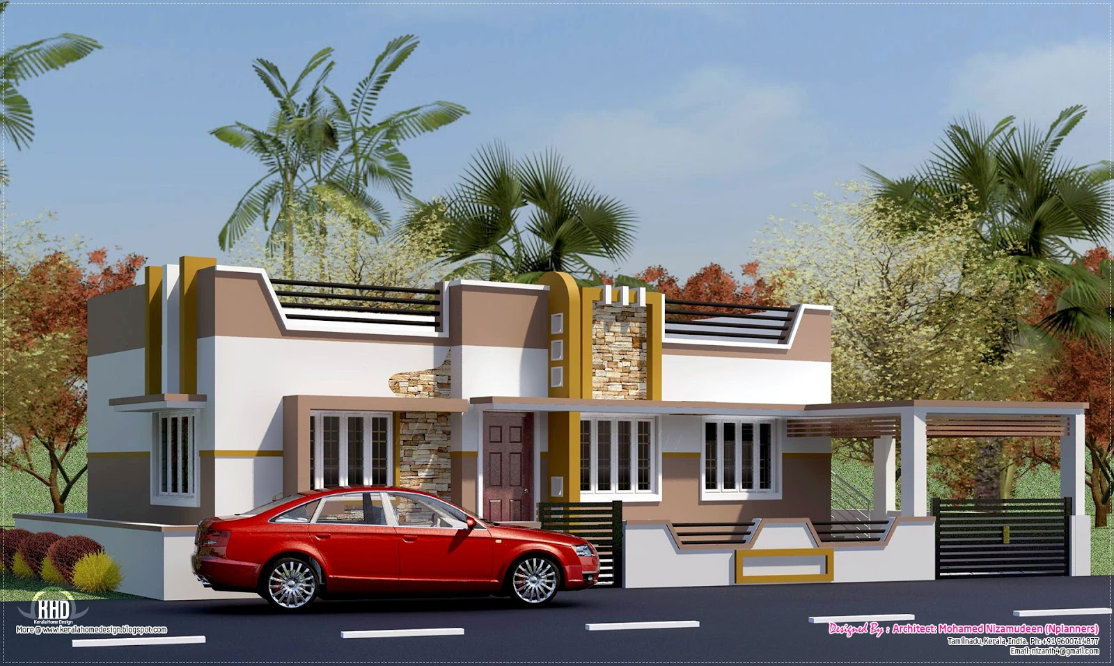 Minimalist Home Design Kerala Home Design And Floor Plans 1484 Sq Feet South India House On