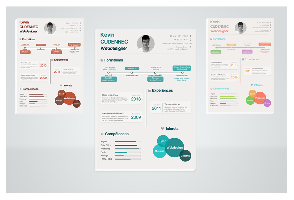 Infographic template cv