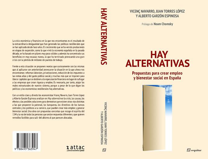 Portada y reseña del Libro Hay Alternativas