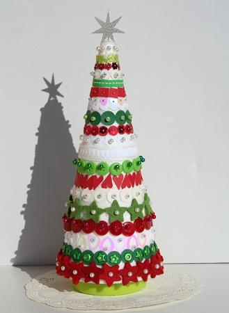 Decoracion navidea reciclada como hacer campanas de for Puertas decoradas de navidad trackid sp 006