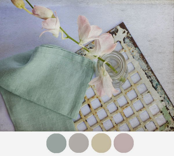 muted pale colour palette