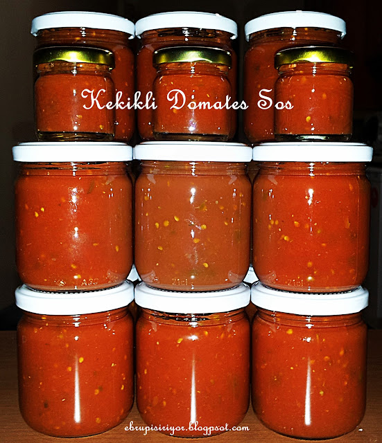 domates sos, kekikli domates sos