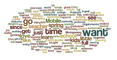 These are words used in my blog about myself.