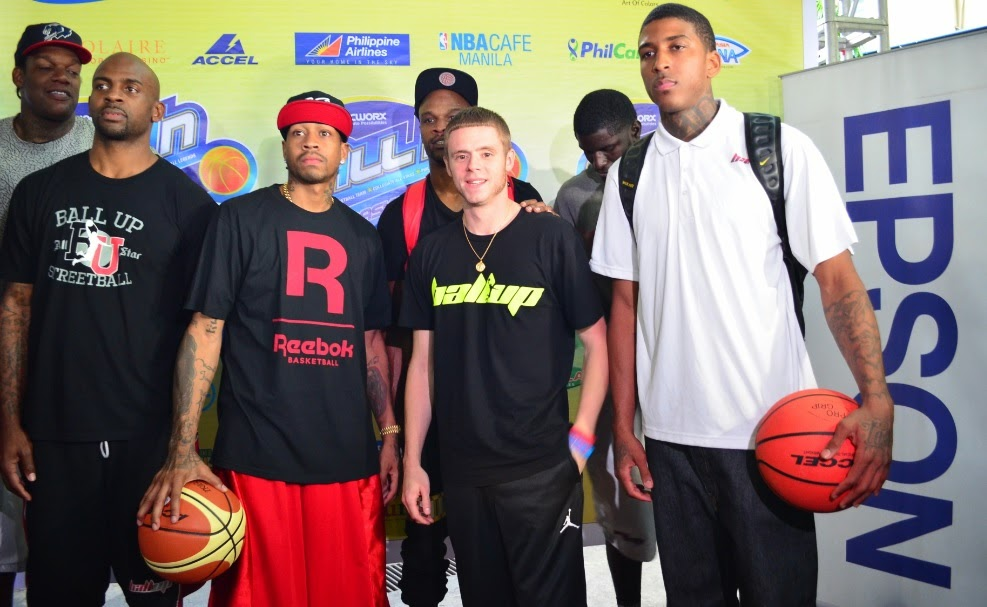 Allen Iverson with former NBA stars and streetball legends