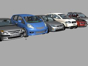 Coleção de 22 carros para Studio Max 2012 + Mental Ray