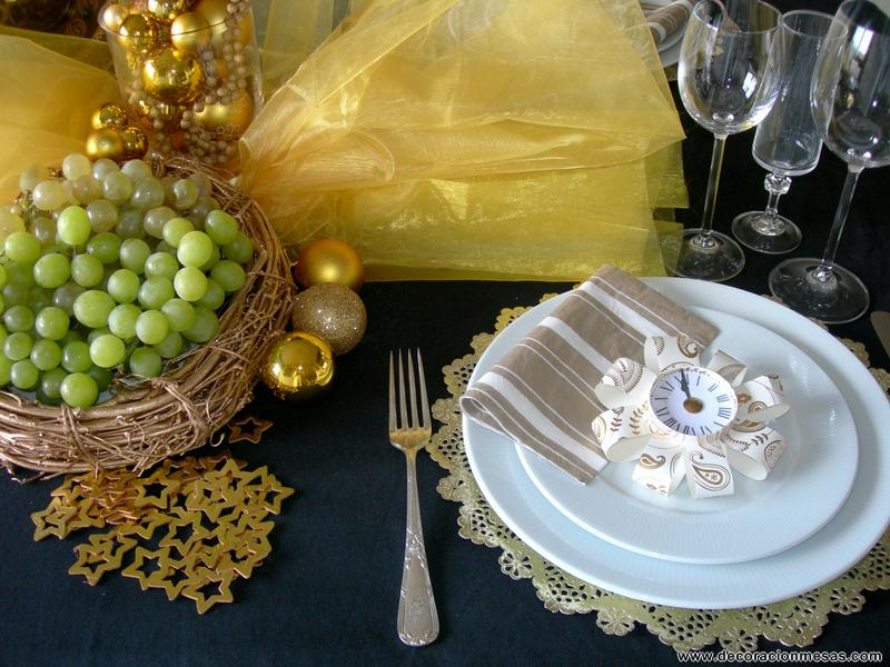 Mesa Nochevieja, imagen decoraciondemesas.com