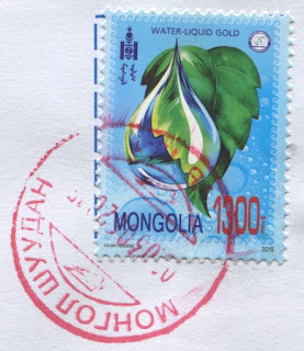 stamp, mongolia, water, liquid gold