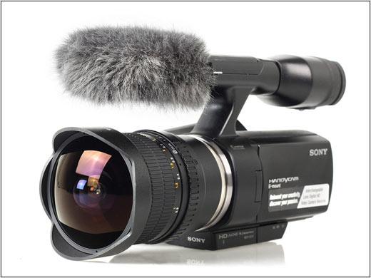 sony nex vg10 samyang 8mm fisheye lens
