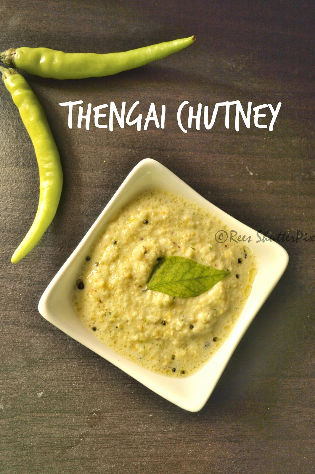 coconut chutney recipe, thengai chutney recipe, easy chutney recipe