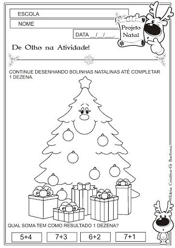 Atividade Dezena Temática  Natal