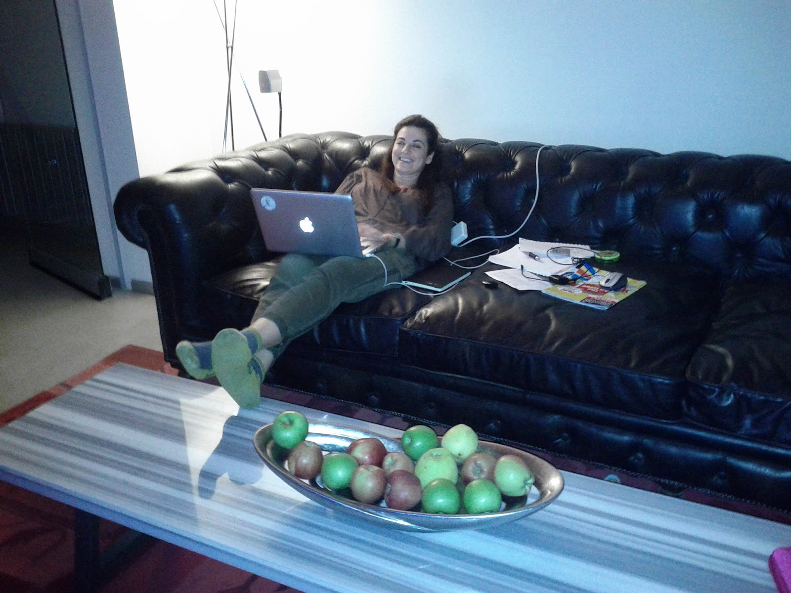 Leyla on her Mac
