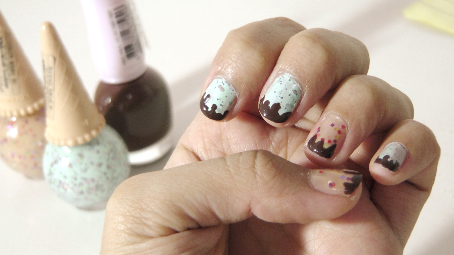 Ada no Nikki: NOTD: Etude House Sweet Recipe Icecream Nails