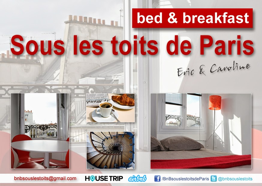Bed and Breakfast Chambre d'hôtes Sous les toits de Paris, France