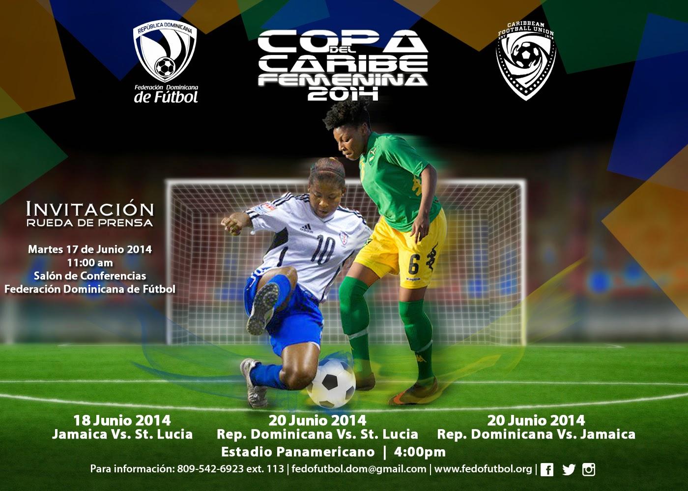 Rueda de Prensa Copa del Caribe Femenina 2014