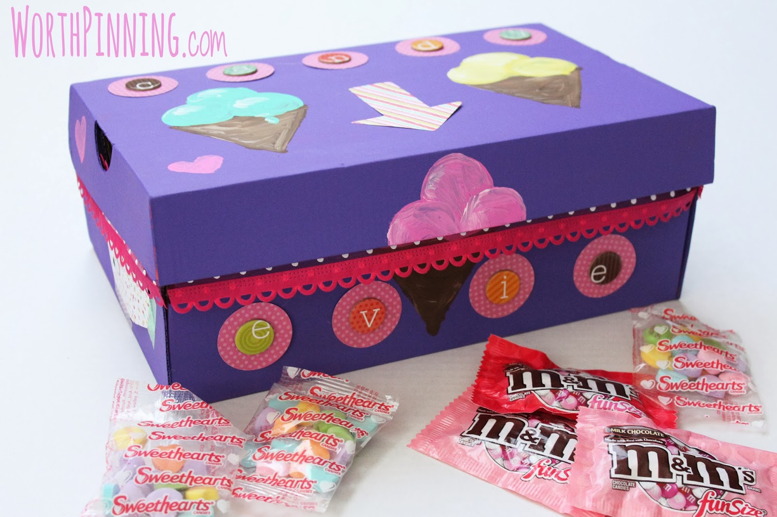 Elegant Girl And Boy Valentineu0027s Day Box With Apple Barrel Craft Paints