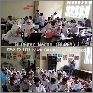 workshop blog di sekolah blogger medan