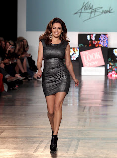 Kelly Brook modeling her creations