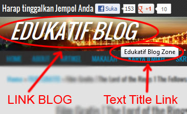 ARA MEMBUAT TEXT TITLE LINK PADA JUDUL BLOG