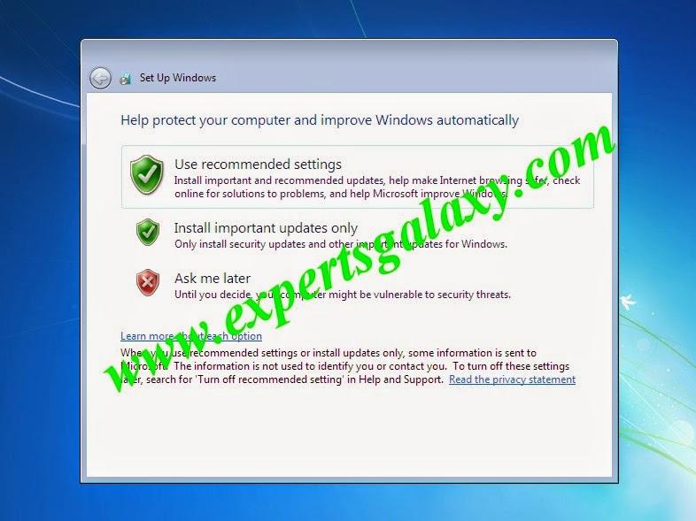 Windows 7 Automatic Update Settings