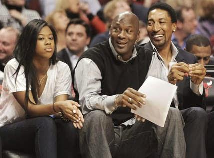 Michael Jordan And His Kids 2014