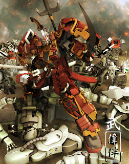 deviantart digital painting fanart gundam fan art sandrum shin musha