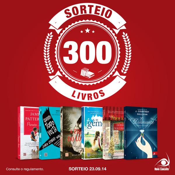 #Sorteio300LivrosNC