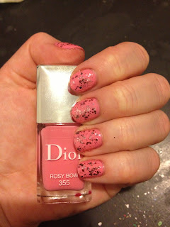 nail, nails, nail polish, polish, lacquer, nail lacquer, mani, manicure, Dior, Dior Rosy Bow, Dior nail polish, Dior nail lacquer, Dior manicure, Essie, Essie nail polish, Essie nail lacquer, Essie A Cut Above, Essie manicure
