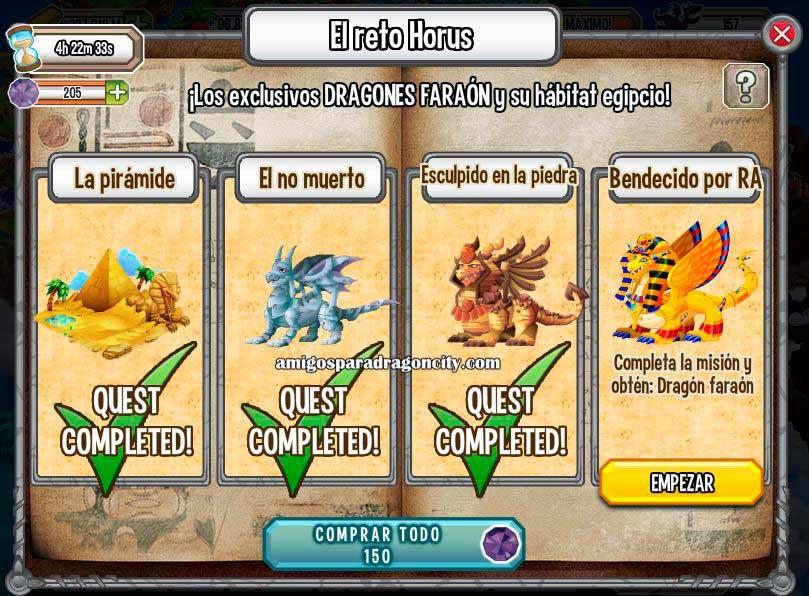 imagen de la cuarta mision de la isla egipcia el reto de deus de dragon city