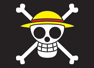 Bendera Bajak Laut Topi Jerami Hitam Full