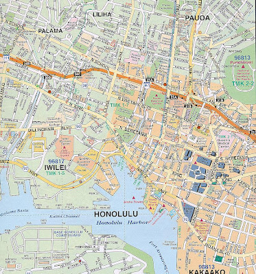 Honolulu map of city