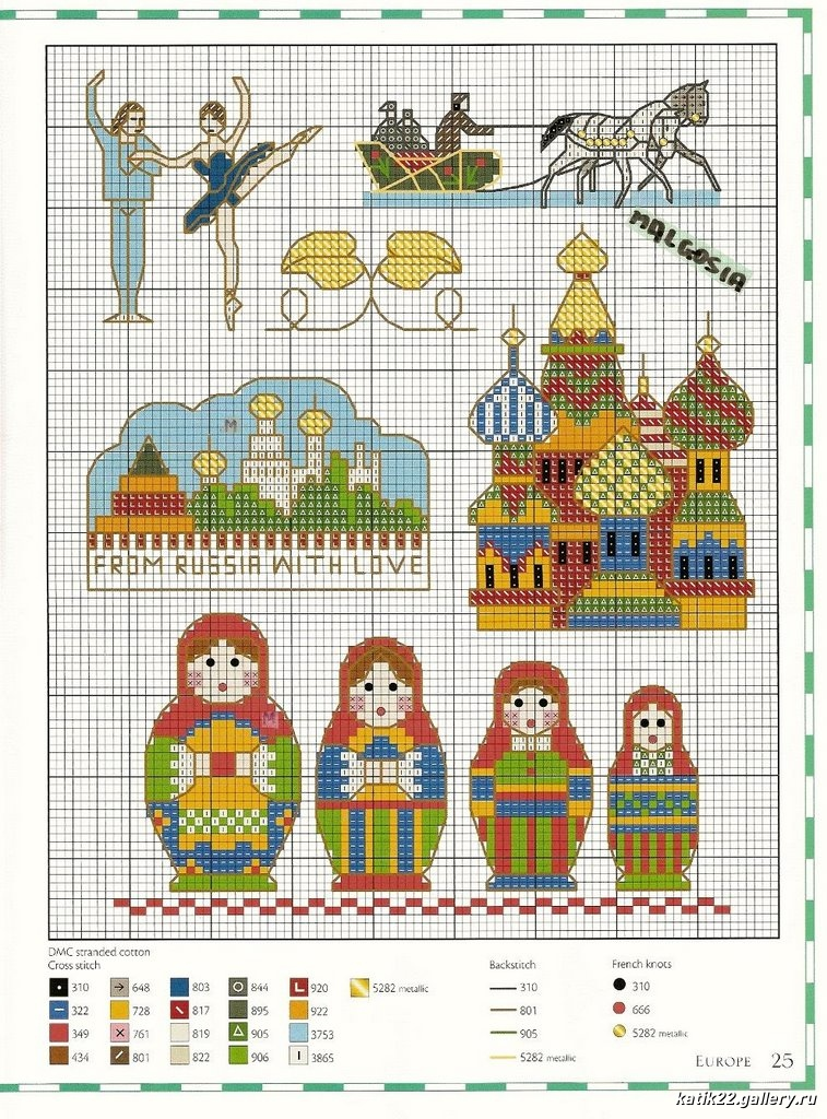 embroidery - matryoshka,