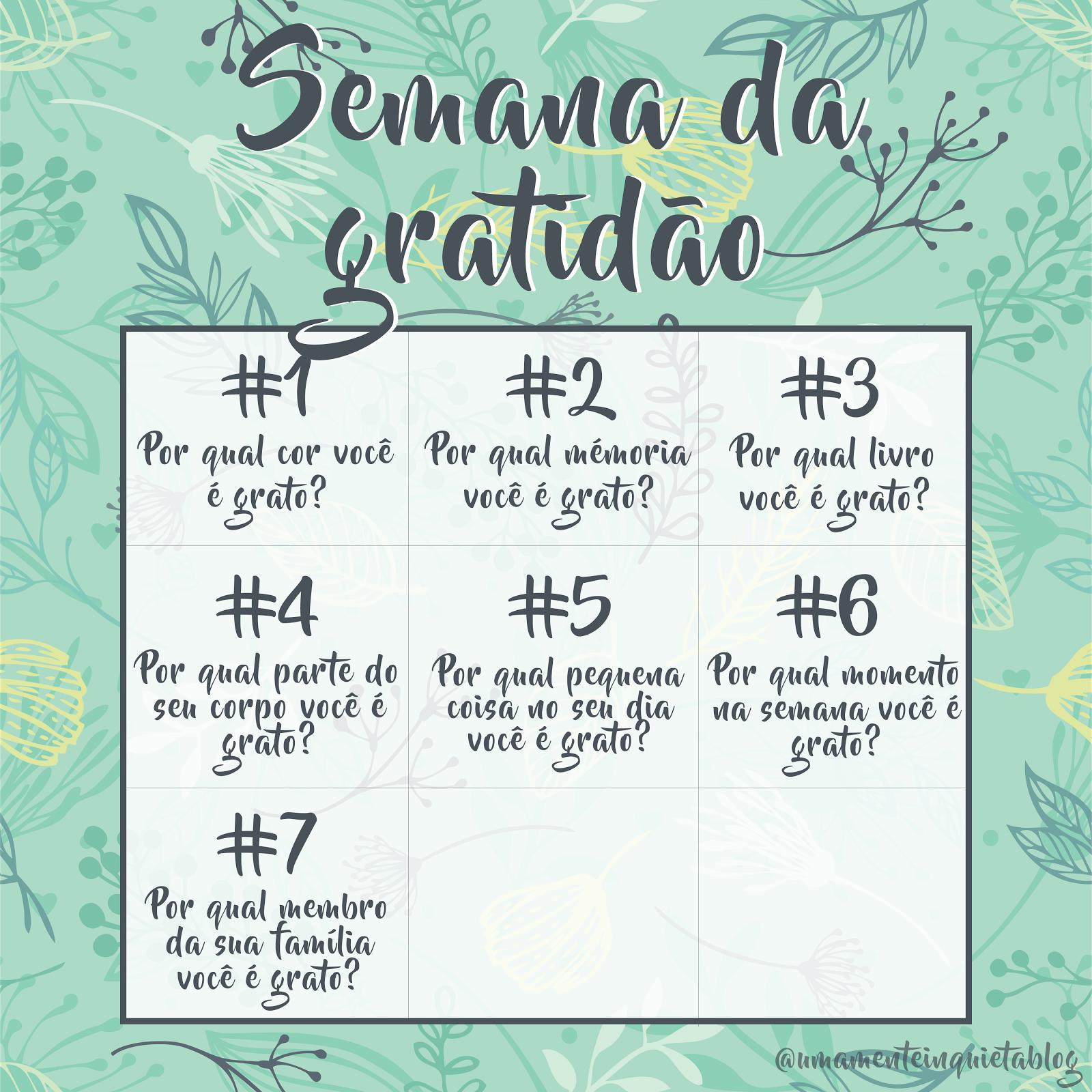 Desafio da gratidão