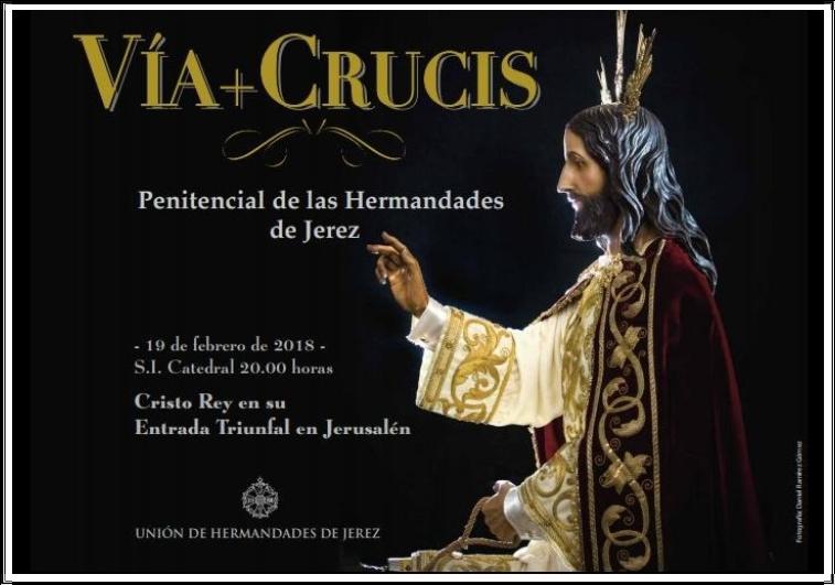 CARTEL VÍA-CRUCIS HERMANDADES 2018