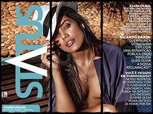 Ildi Silva Na Revista Status De Outubro 2014
