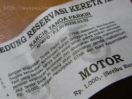 tiket karcis motor yang ingin untungnya saja
