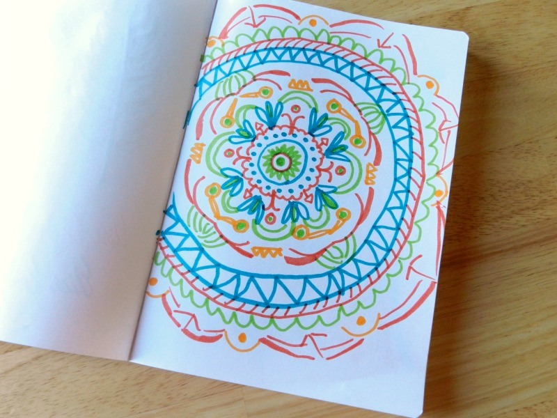 brightly colored mandala sketch (grow creative)