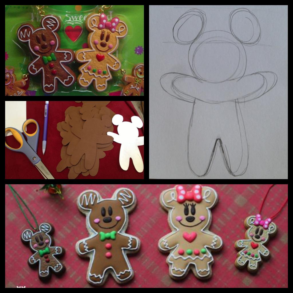 My Disney Life DIY Gingerbread Mickey Christmas Cards
