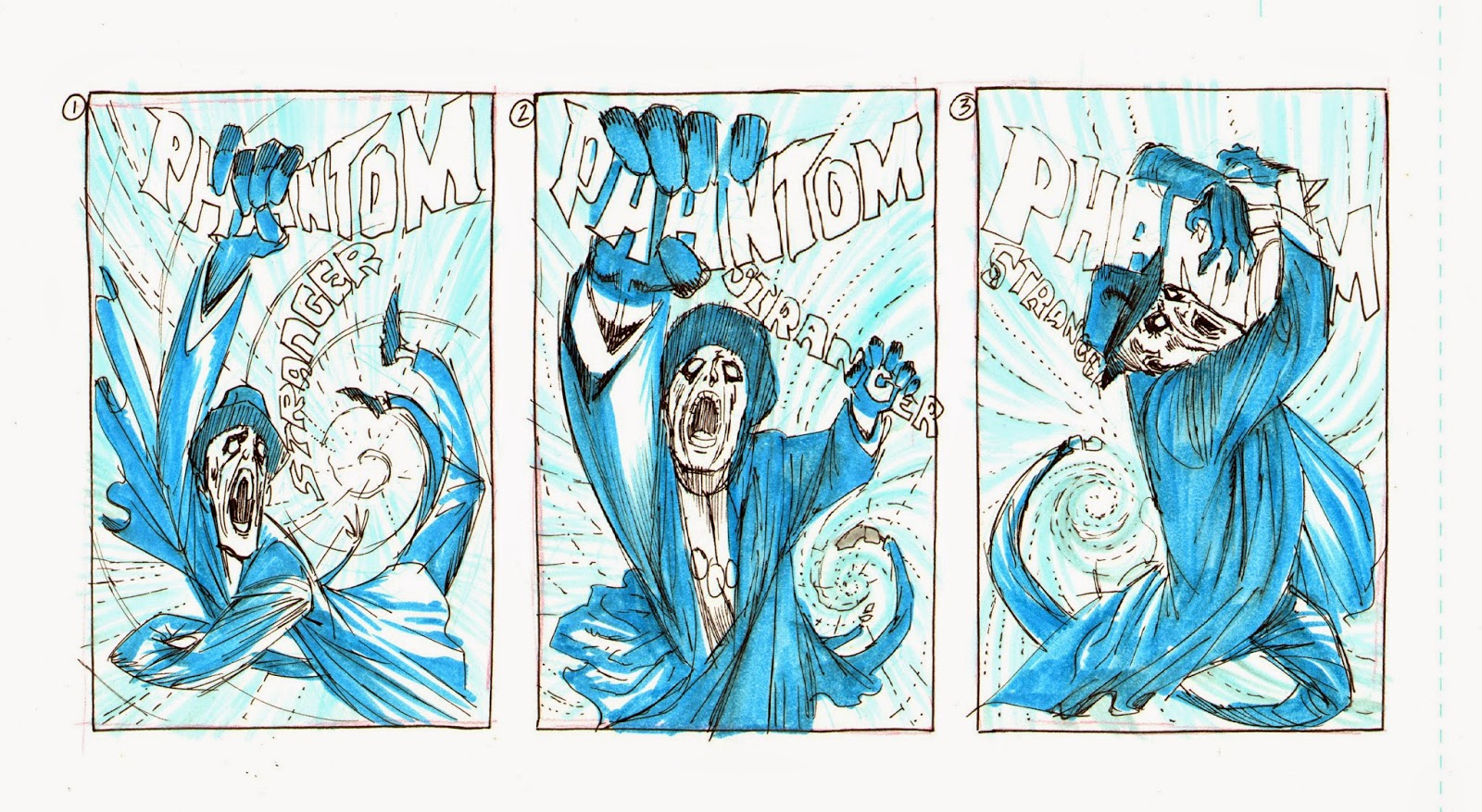 Making of a cover: PHANTOM STRANGER #19 by Guillem March